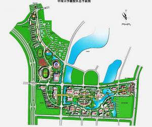 高校导航:中南大学校园平面图